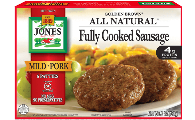 All Natural Golden Brown Mild Pork Sausage Patties 7oz