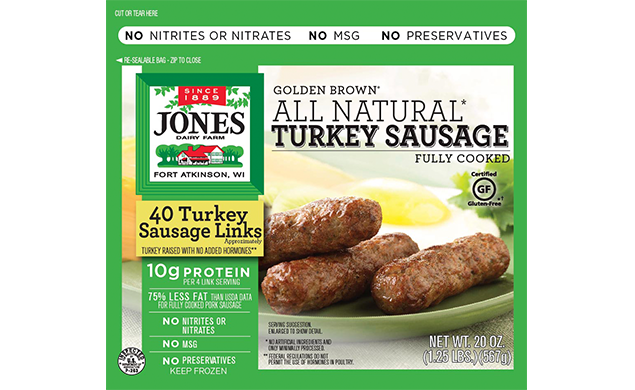All Natural Golden Brown Turkey Sausage Links 20 oz