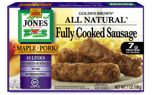 All Natural Golden Brown Maple Pork Sausage Links 7oz