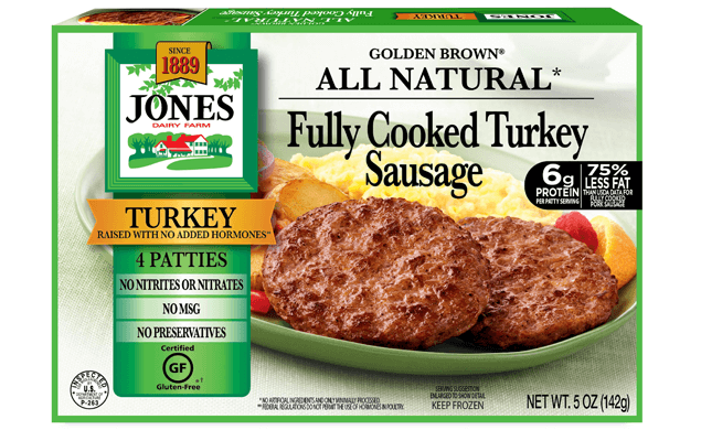 All Natural Golden Brown Turkey Sausage Patties 5oz