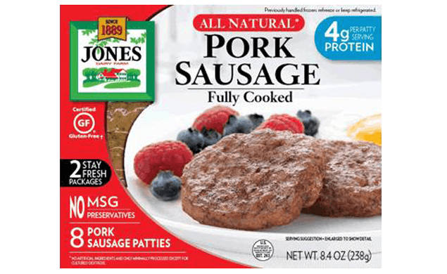 Refrigerated All Natural Fully Cooked Sausage Patties 8.4oz