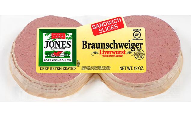 Braunschweiger Liverwurst Sliced Sandwich Slices 12oz