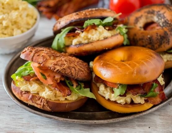 Bacon and Egg Salad Breakfast Sandwich Recipe