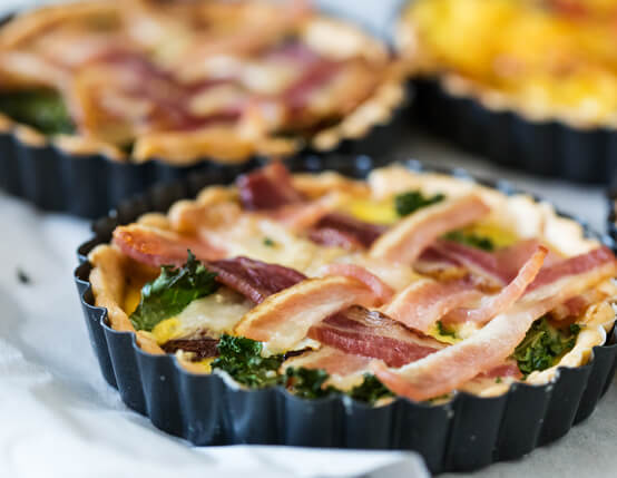 Bacon & Kale Breakfast Pies Recipe