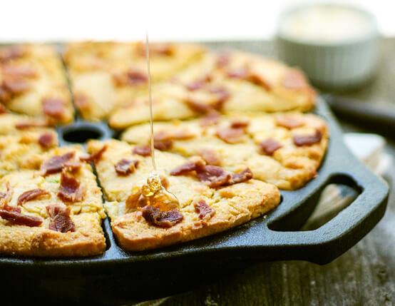 Bacon Studded Jalapeno & Cheddar Cornbread Recipe