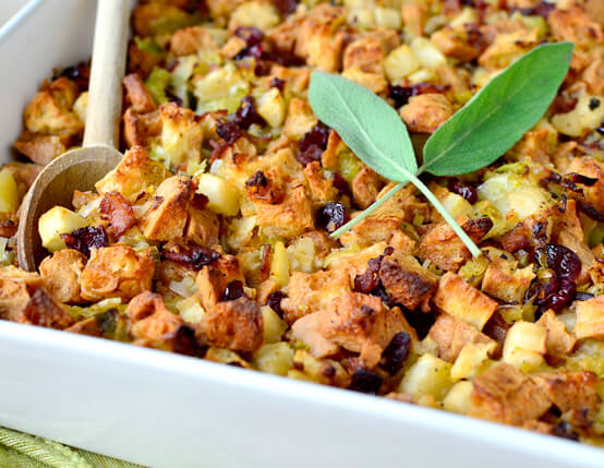 Brown Butter Apple, Leek and Jones Bacon Stuffing Recipe