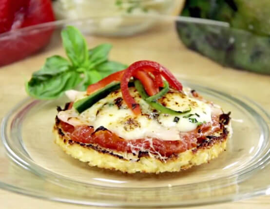 Canadian Bacon Pizza with Cauliflower Crust Recipe
