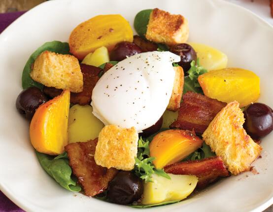 Cherry Hardwood Smoked Bacon Lyonnaise Salad Recipe