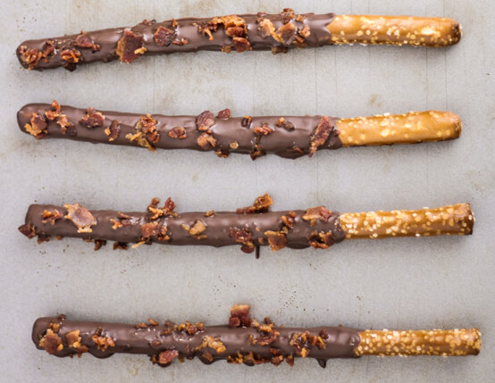 Chocolate Covered Pretzels with Maple Bacon Recipe