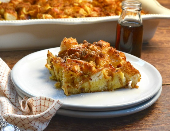Eggnog French Toast Bake with Canadian Bacon Recipe