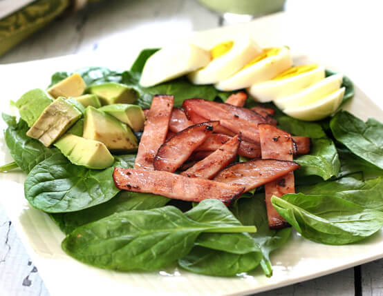 Greens, Eggs and Ham Salad Recipe