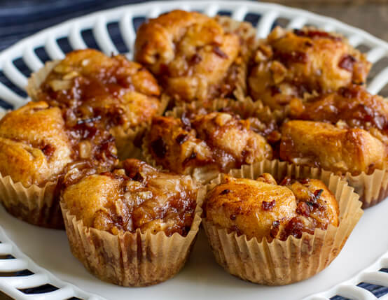 Individual Bacon and Apple Monkey Breads Recipe