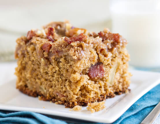 Maple Bacon Streusel Cake Recipe