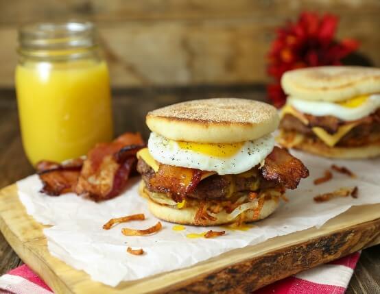 Royal Bacon Breakfast Burger Recipe
