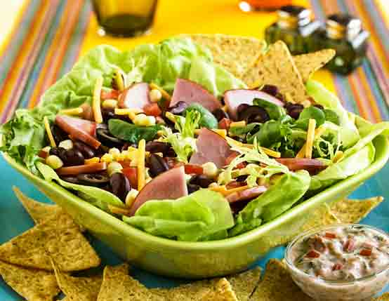Southwestern Salad with Canadian Bacon Recipe