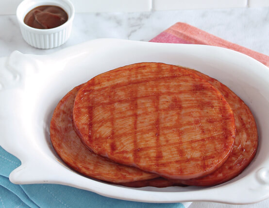 Best Ever Barbecued Ham Steaks Recipe