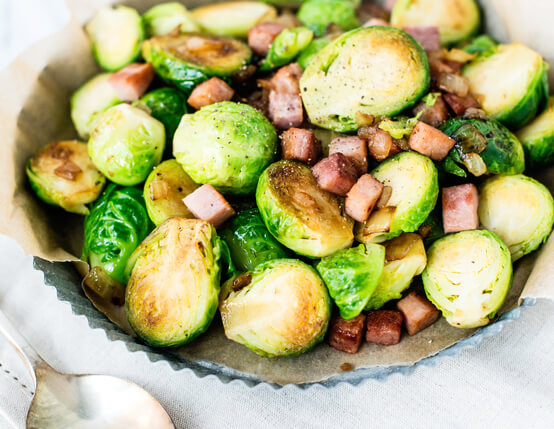 Brussels Sprouts with Ham Recipe