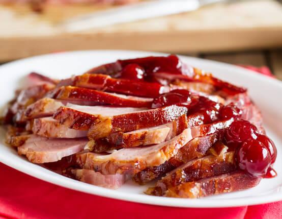 Cherry and Brown Sugar Glazed Ham Recipe
