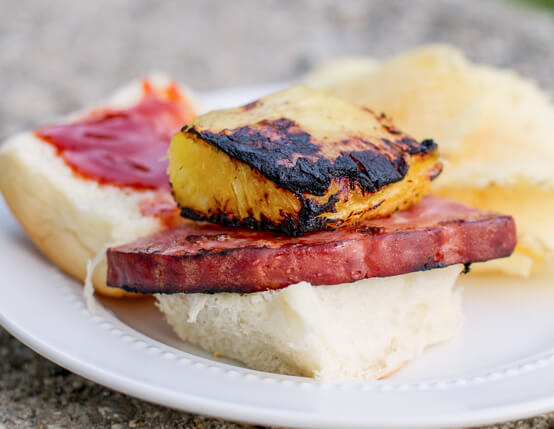 Grilled Ham and Pineapple Sliders Recipe