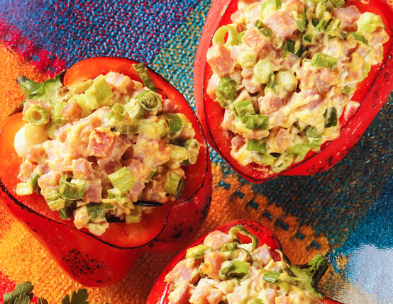 Grilled Stuffed Peppers with Diced Ham Salad Recipe