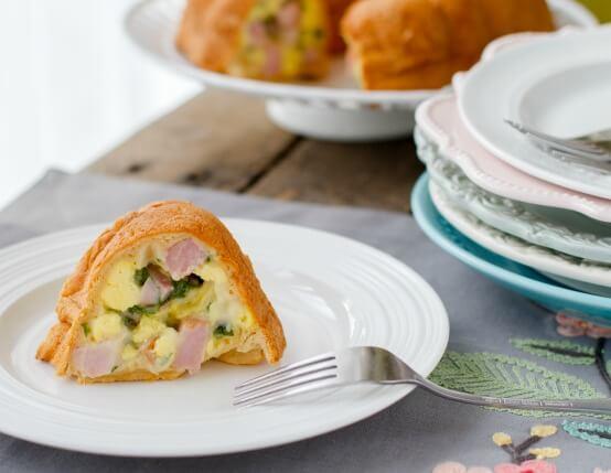 Ham & Cheese Breakfast Bundt Cake Recipe