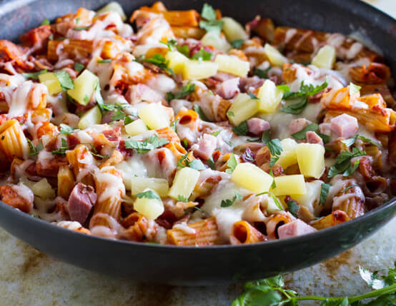 Hawaiian One Pan Pasta Recipe