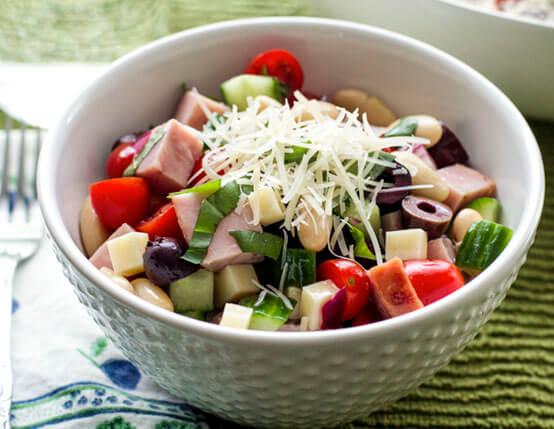 Mediterranean Jones Ham and Wisconsin Cheese Salad Recipe