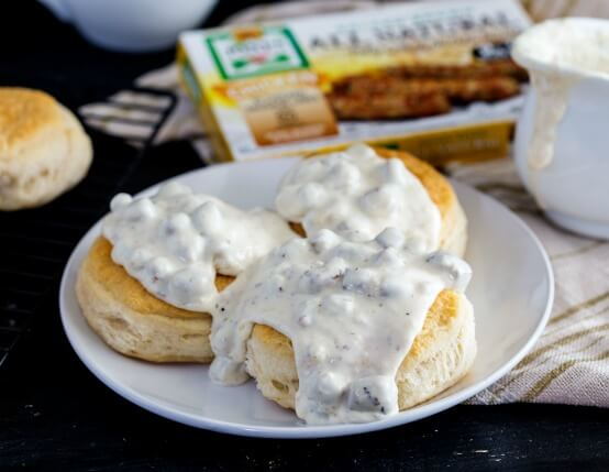 Biscuits and Chicken Sausage Gravy Recipe