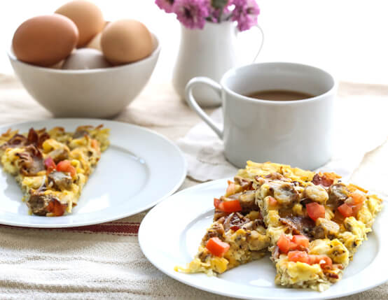 Breakfast Pizza with Hash Brown Crust Recipe