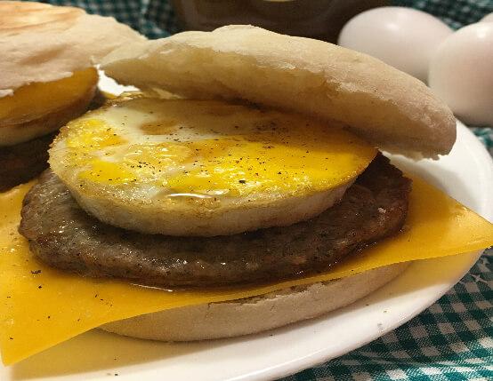 Make Ahead Breakfast Sausage Sandwiches web