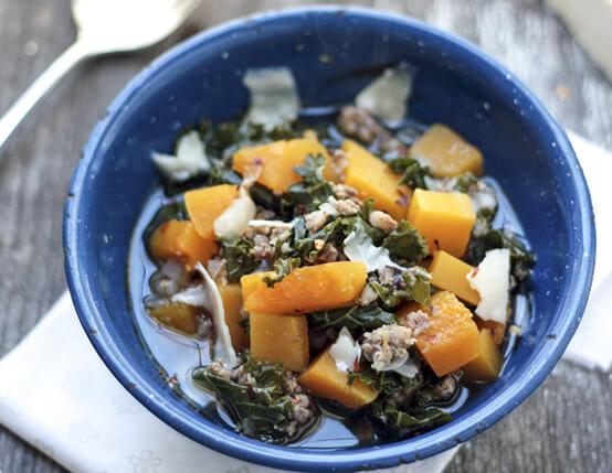 Pumpkin, Kale and Sausage Soup Recipe