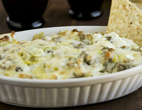Sausage, Artichoke and Cheese Dip Recipe