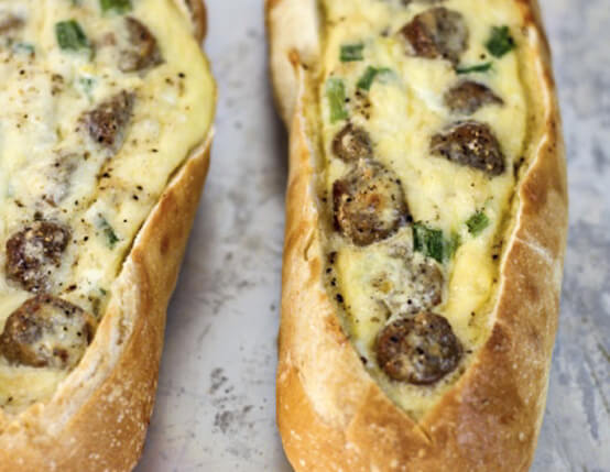 Sausage Egg Boats Recipe