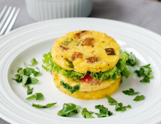 Sausage, Polenta and Egg Breakfast Sliders Recipe