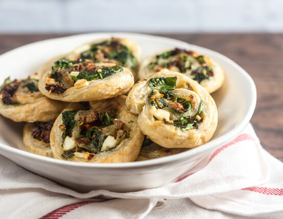 Savory Chicken Sausage and Spinach Danish Recipe