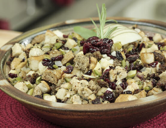 Sourdough, Apple and Cranberry Stuffing with Jones Sausage  Recipe