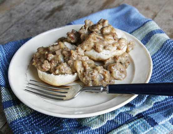 Southern Style Sausage Gravy & Biscuits Recipe