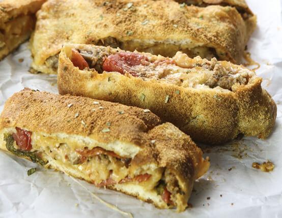 Super Easy Sausage and Pepperoni Stromboli  Recipe