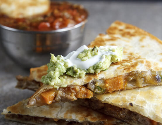 Sweet Potato and Sausage Quesadillas Recipe