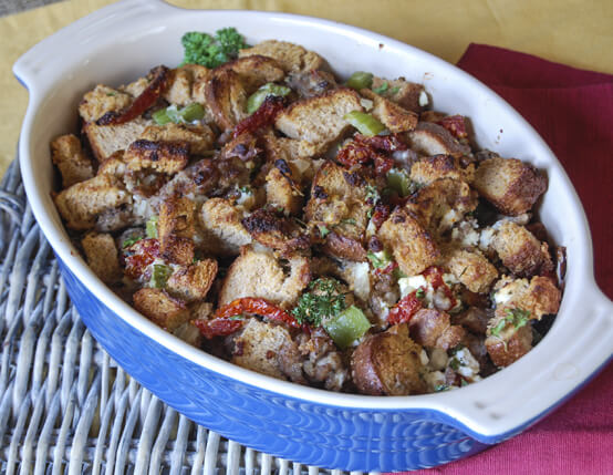 Tuscan-Inspired Stuffing with Goat Cheese and Jones Sausage Recipe