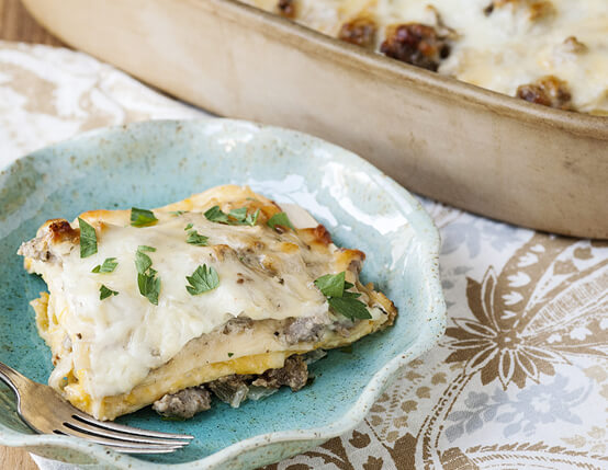 White Sausage Lasagna Recipe