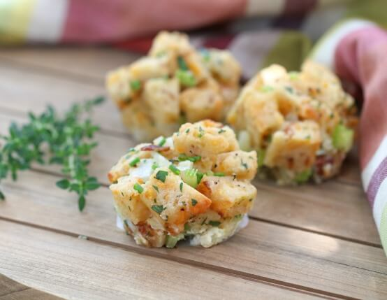 Recipe for Beer and Cheese Stuffing Muffins with Jones Bacon