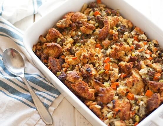 Recipe for Jones Sausage and Buttermilk Biscuit Stuffing