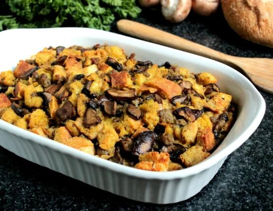 Recipe for Mushroom, Jones Sausage and Toasted Fennel Stuffing