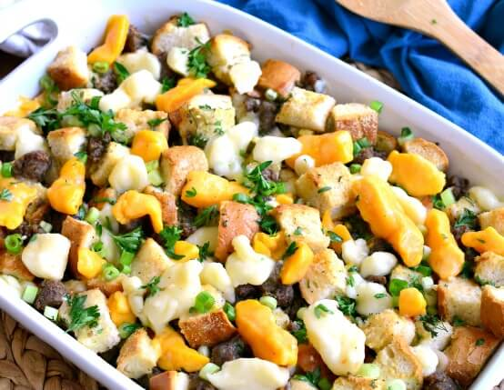 Recipe for Poutine Stuffing with Jones Sausage