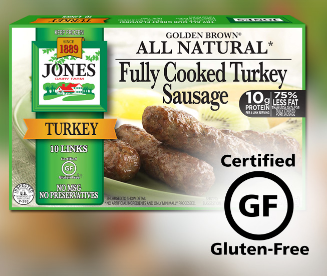Gluten-Free Fully Cooked Turkey Sausage