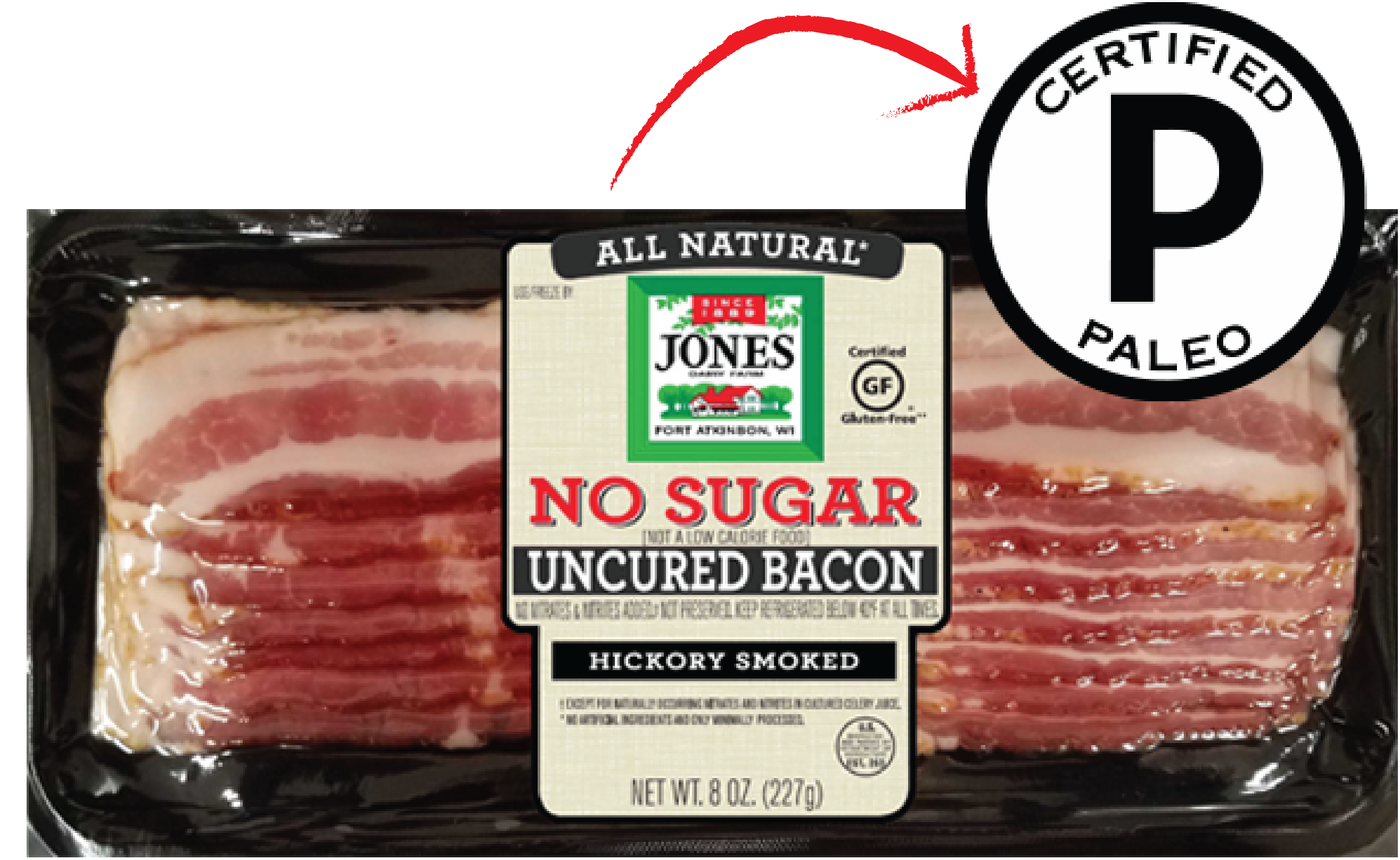 032150 - 8 oz AN UN No Sugar Bacon CP