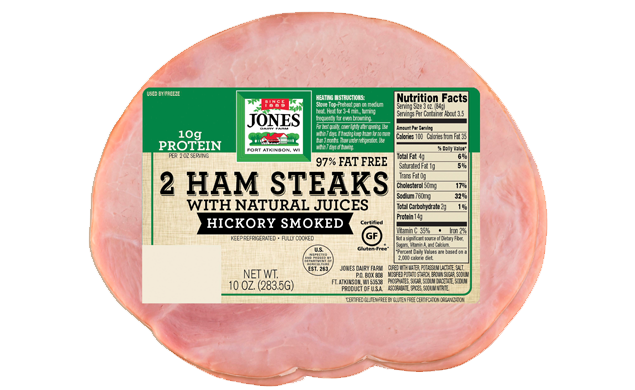 2 Ham Steak