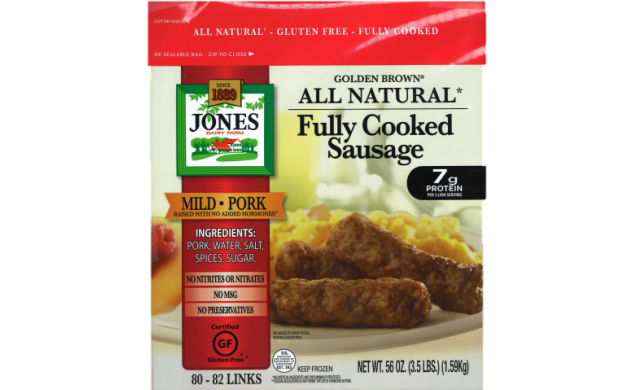 All Natural Golden Brown Mild Pork Sausage Links 3.5lbs