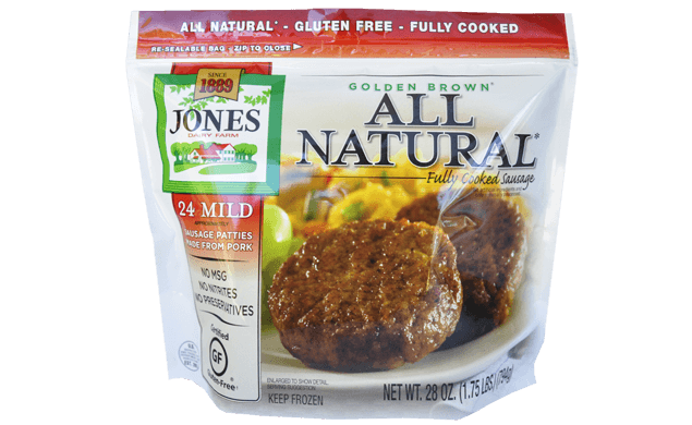 All Natural Golden Brown Mild Pork Sausage Patties 28oz